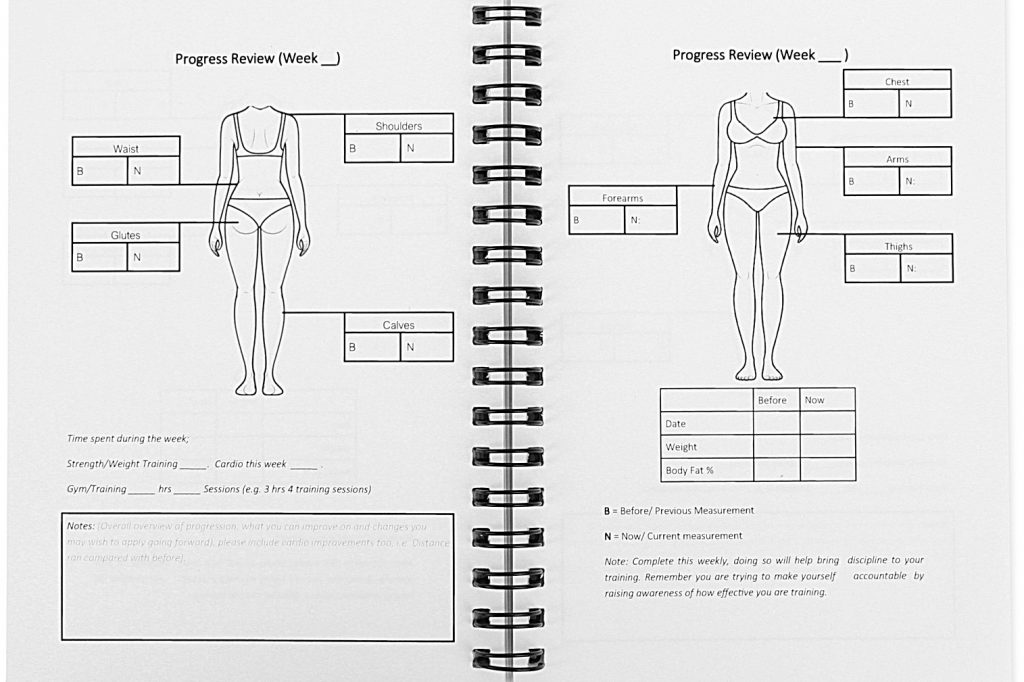 Gym Workout Log Book Female Progress