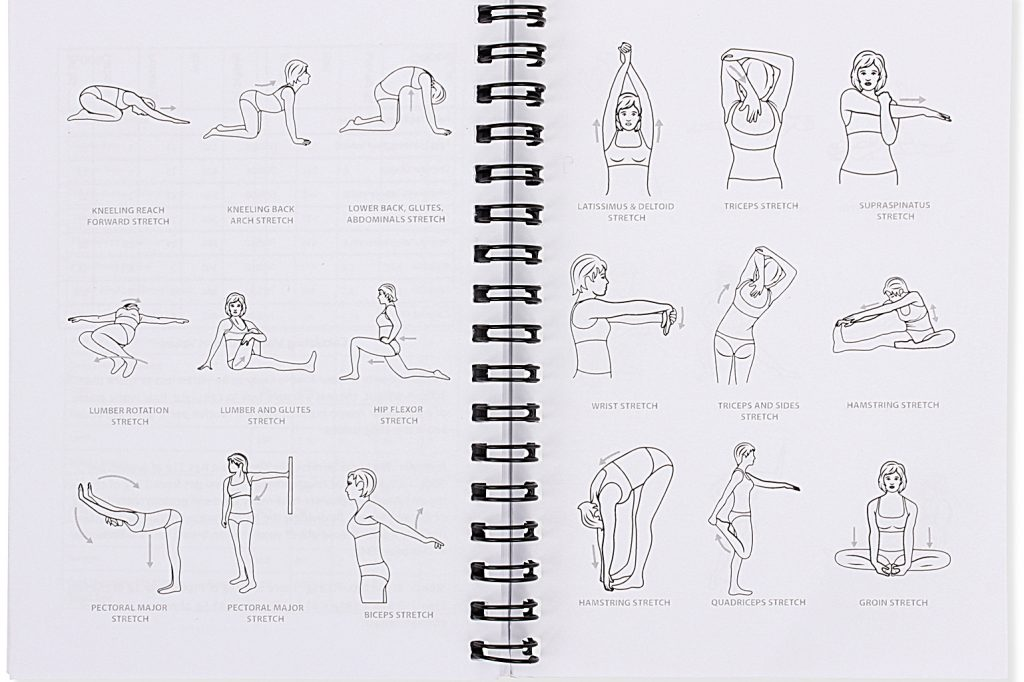 Gym Workout Log Book Female Stretching