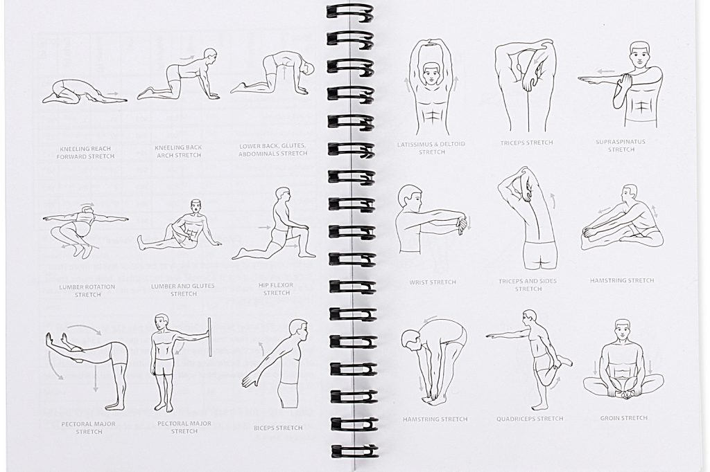 Gym Workout Log Book Male Stretching
